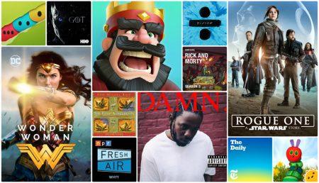 Apple объявила самые популярные приложения, игры, фильмы и музыку 2017 года