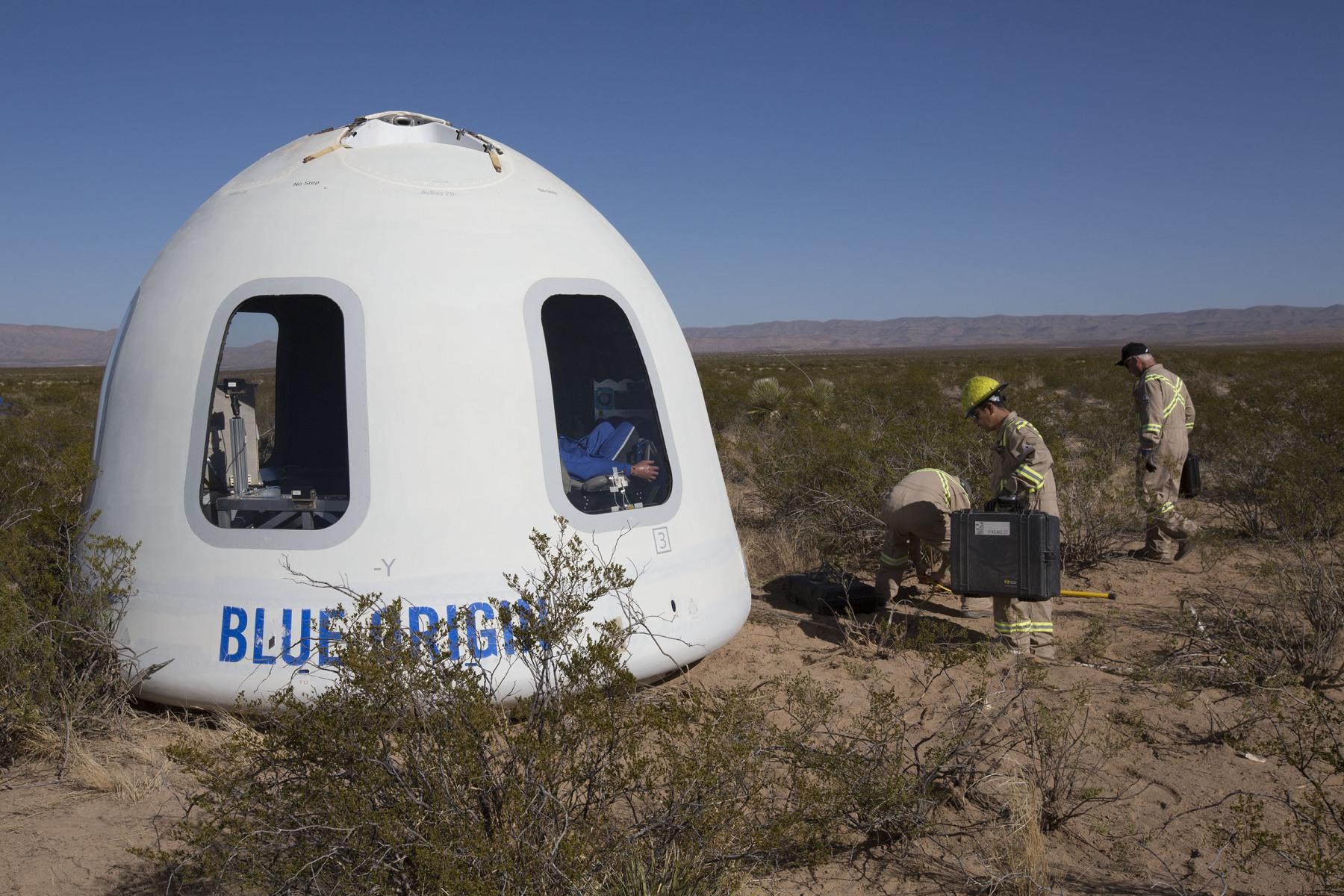 Blue Origin провела запуск новоиспеченной модификации ракеты New Shepard