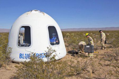 Blue Origin может выполнить первый пилотируемый полет New Shepard уже в 2018 году