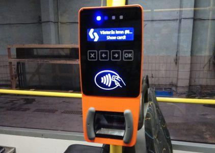«Киевпастранс» начал устанавливать системы электронного билета в столичном общественном транспорте [фото]