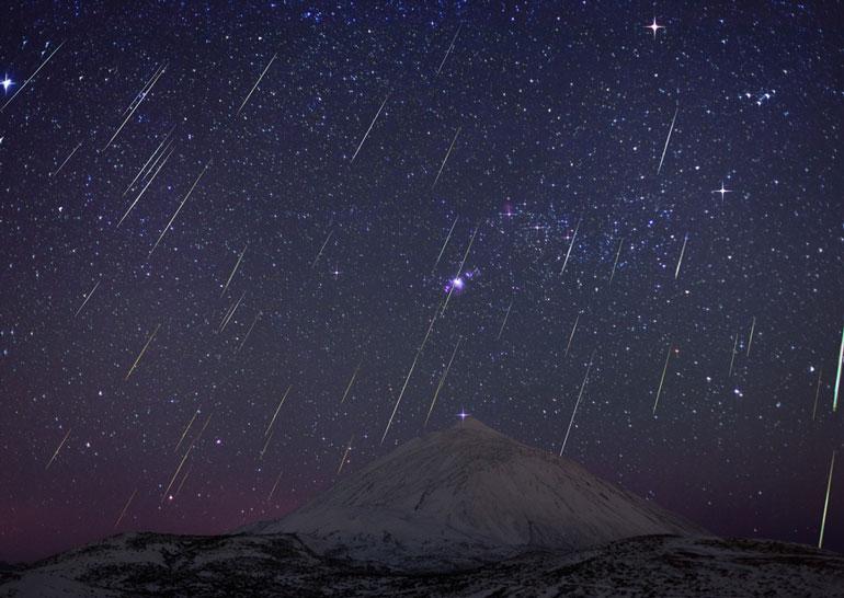 Вночь на14декабря можно будет наблюдать мощнейший звездопад Геминиды