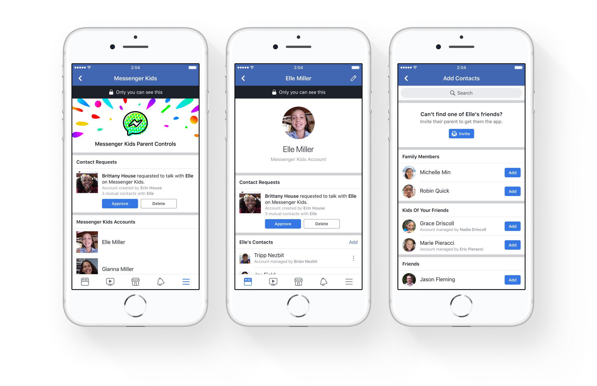 Facebook сделала еще одну версию приложения Facebook Messenger – для детей