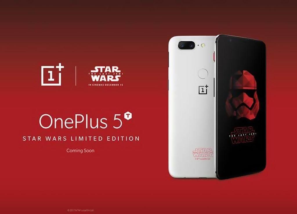 Новости Звездных Войн (Star Wars news): Ограниченная партия OnePlus 5T Star Wars Limited Edition включает 150 тыс. смартфонов