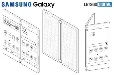 Samsung запатентовала необычный смартфон-раскладушку с двумя сенсорными экранами для игр и творчества