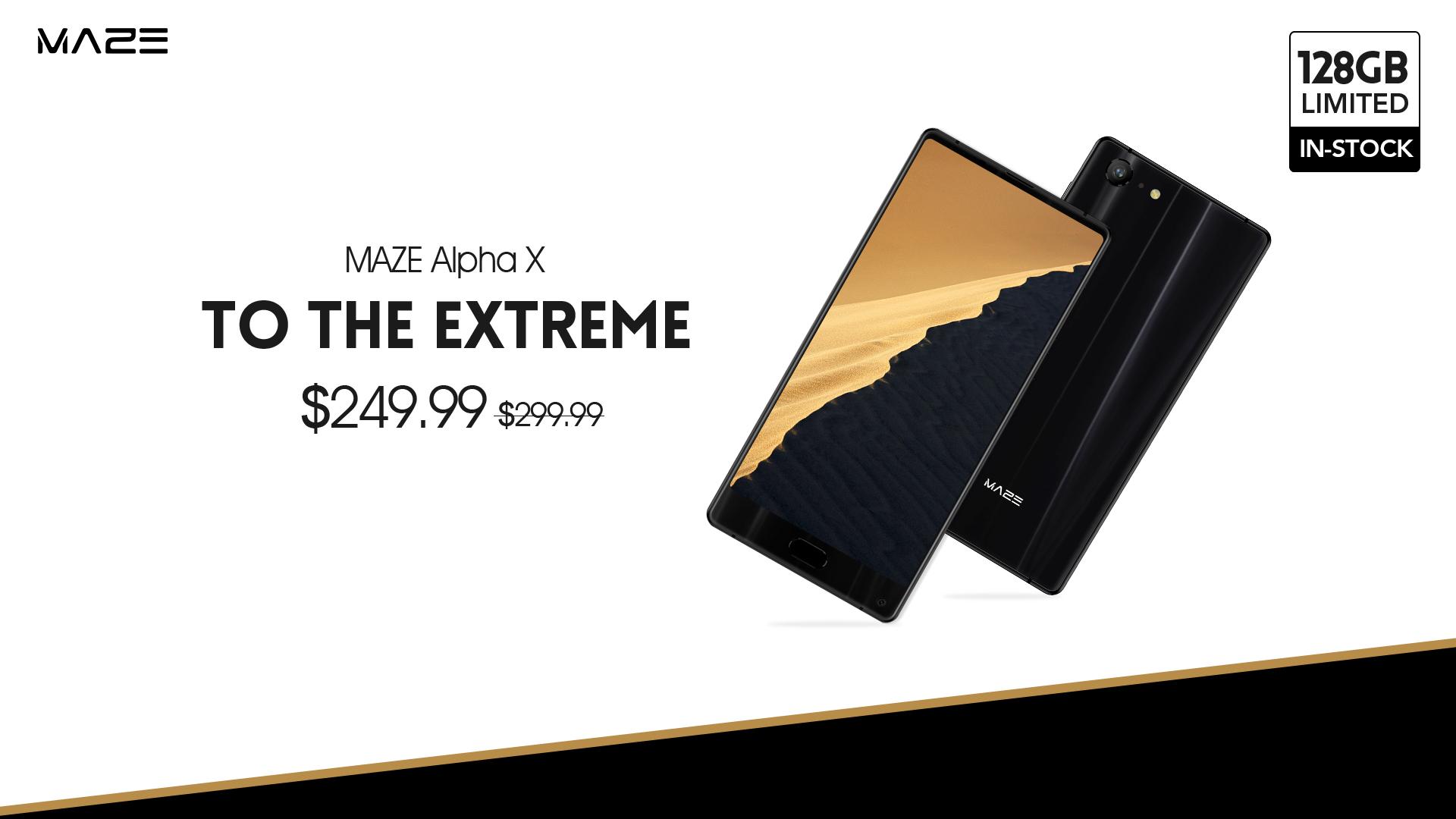 Maze Alpha X на 128 ГБ уже доступен для покупки