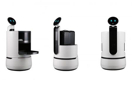 LG представила три новых робота из семейства CLOi, включая официанта Serving Robot, портье Porter Robot и магазинного гида Shopping Cart Robot
