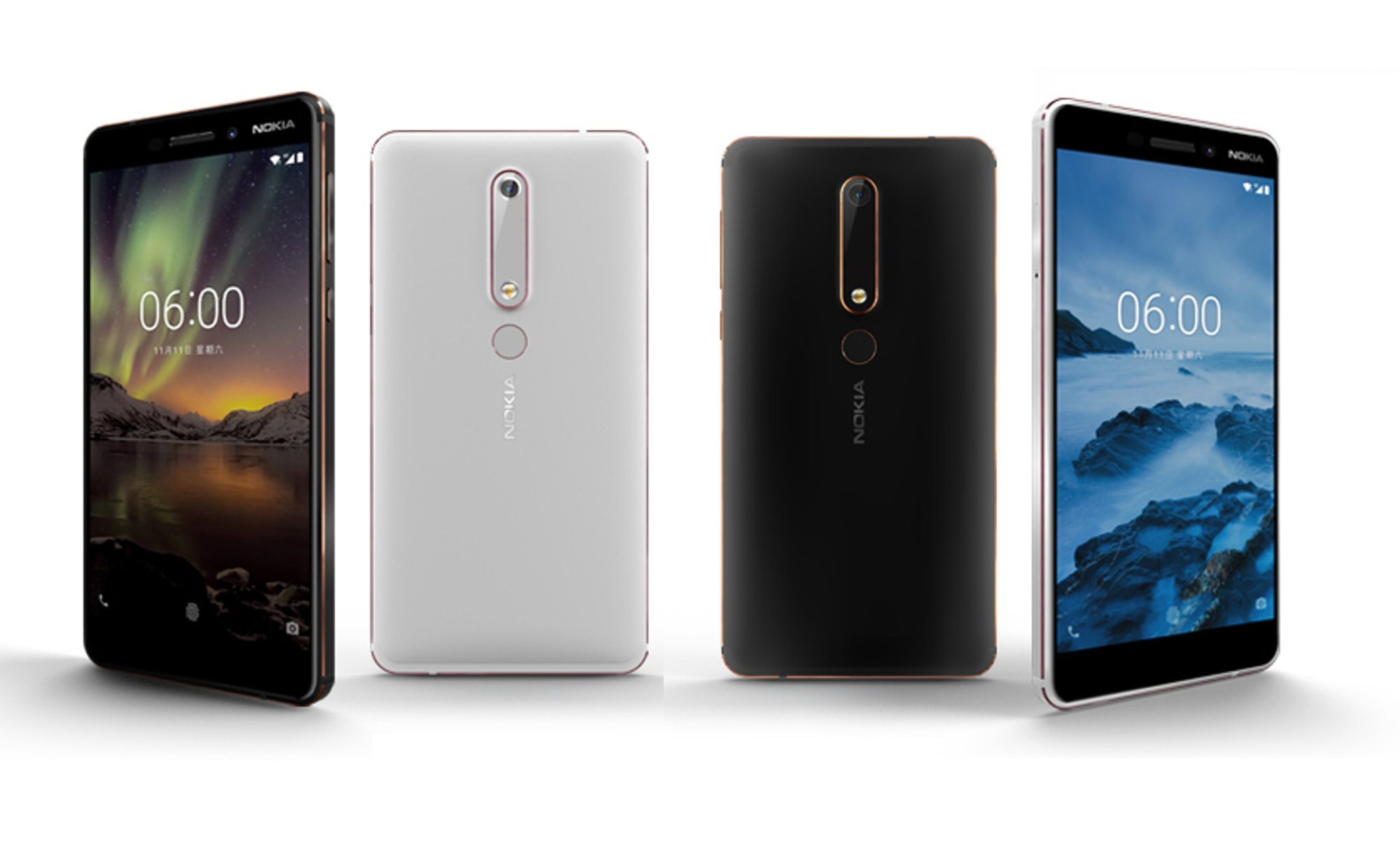 Представлен смартфон Nokia 6, получивший SoC Snapdragon 630 и функцию одновременной съемки с двух камер Dual-Sight
