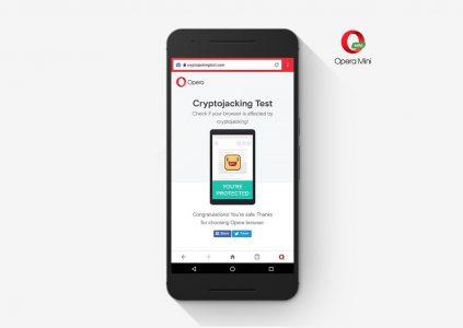 Opera встроила защиту от майнинга криптовалют в свои мобильные браузеры Opera Mini и Opera для Android