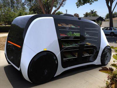 Robomart — первый в мире беспилотный продуктовый магазин на основе электромобиля с беспроводной зарядкой [CES 2018]