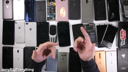 JerryRigEverything опубликовал рейтинг наиболее и наименее прочных и ремонтопригодных смартфонов Smartphone DURABILITY Awards 2017 [видео]