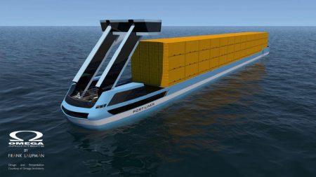 """Осенью в Нидерландах спустят на воду два полностью электрических контейнеровоза """"Tesla ships"""""""