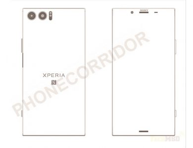 Появилось схематическое изображение грядущего флагмана Sony Xperia XZ Pro
