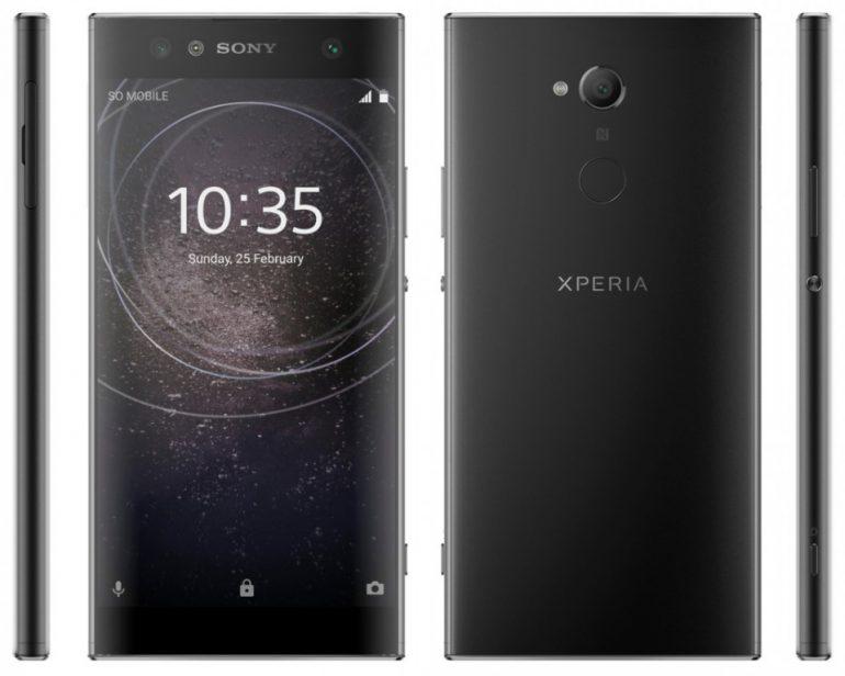 Опубликованы официальные пресс-рендеры смартфонов Sony Xperia XA2, Xperia XA2 Ultra и L2