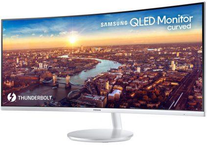 Samsung анонсировала первый изогнутый QLED монитор с интерфейсом Thunderbolt 3