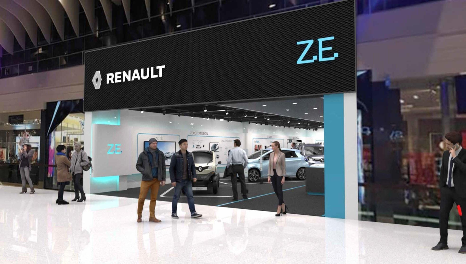 Renault открывает первый специализированный автомагазин, в котором будут продаваться исключительно электромобили