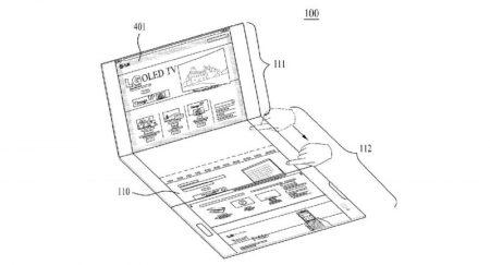 """LG запатентовала компактную """"тройную"""" раскладушку с двумя шарнирами, которую можно трансформировать в планшет"""