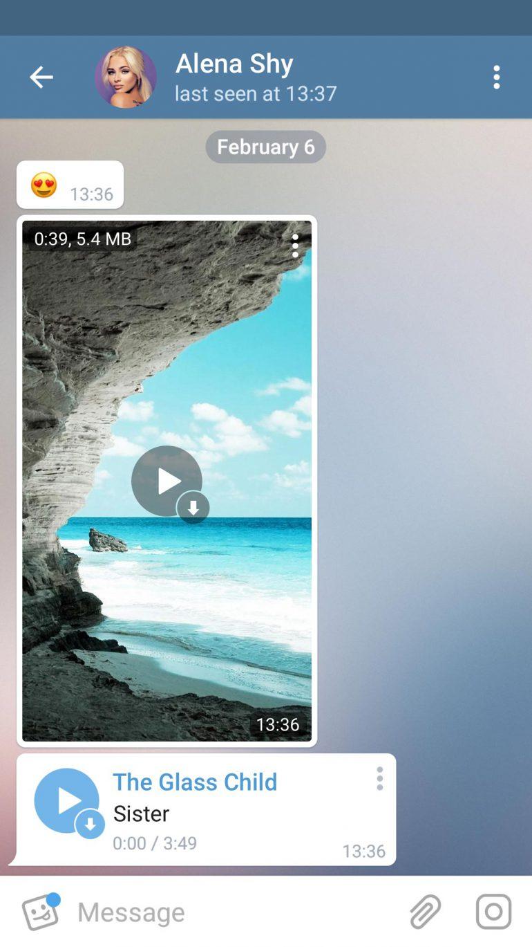 Telegram добавил поддержку потокового воспроизведения видеороликов и режим Auto-Night Mode на Android, а также выпустил виджет для авторизации на сайтах