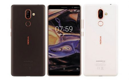 Опубликованы официальные изображения смартфонов Nokia 7 Plus и Nokia 1
