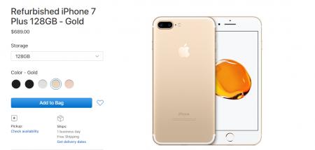 Apple начала продавать восстановленные iPhone 7 и 7 Plus, но в этот раз скидка незначительна