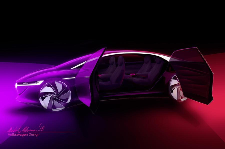 Наавтомобильном шоу вЖеневе покажут седан VW I. D. Vizzion, управляемый звуком