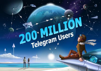 Ежемесячная аудитория Telegram достигла 200 млн человек, мессенджер добавил поиск стикеров, отправку нескольких фото и прочие улучшения
