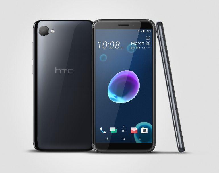 Представлены безрамочные мобильные телефоны HTC Desire 12 и12+