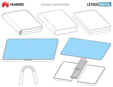 Huawei получила патент на «гибкий смартфон», шарнир которого напоминает вариант от Surface Book