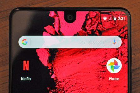 В Essential Products придумали встраивать камеру под поверхность экрана смартфона