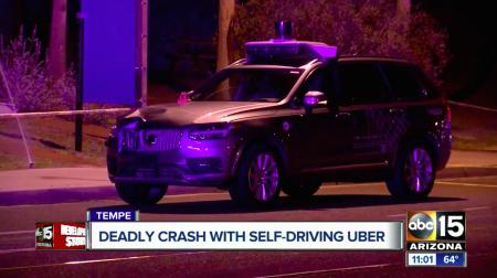 Самоуправляемый автомобиль Uber насмерть сбил пешехода, компания приостановила испытания