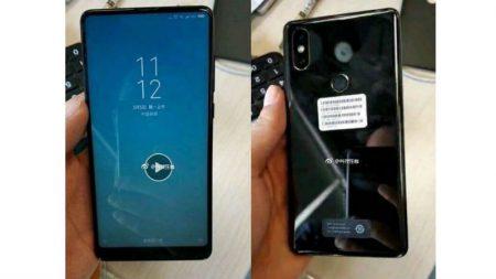 На новом фото фронтальная камера у Xiaomi Mi Mix 2S расположена на нижней рамке, а не в угловом вырезе экрана