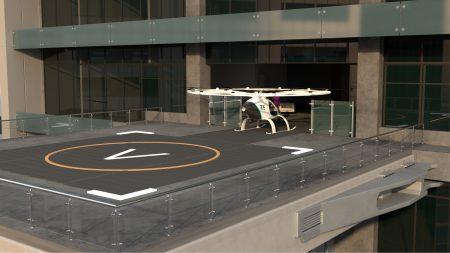 Volocopter показала, каким видит свой сервис воздушного такси – с «волопортами», переправляющими по 10 тыс. человек в день