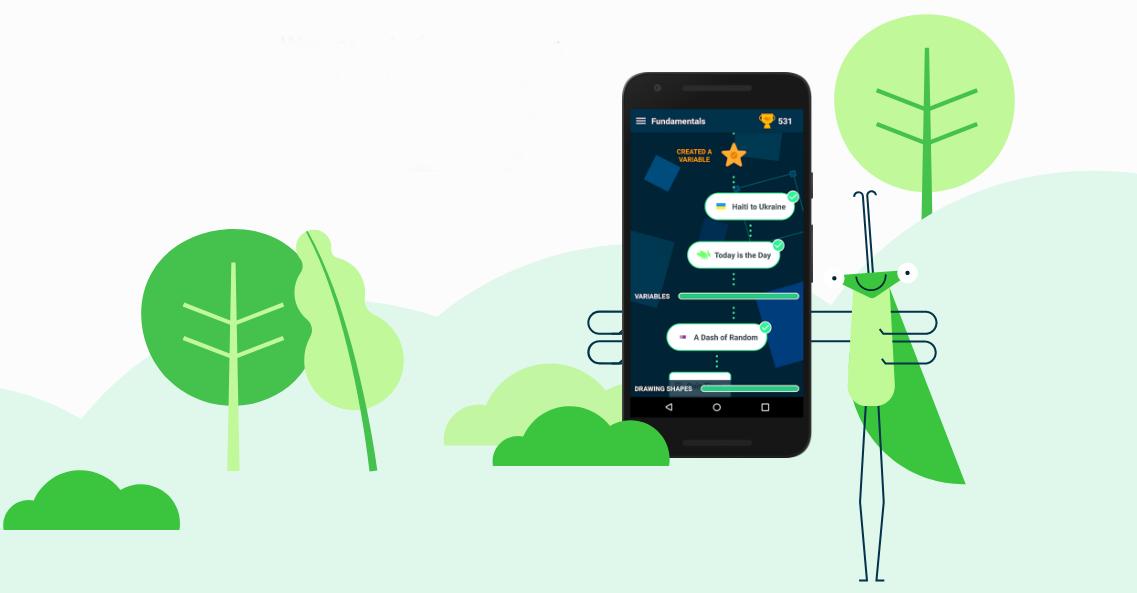 Google выпустили бесплатное приложение, которое учит программированию