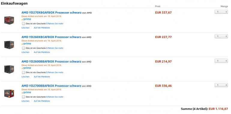 Цены на новые CPU AMD Ryzen окажутся чуть меньшими, чем считалось ранее