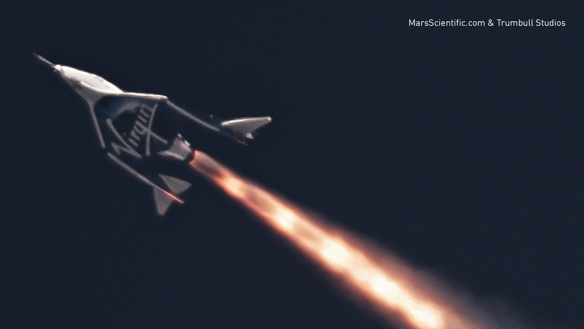 Суборбитальный VSS Unity (SpaceShipTwo) впервые испытали с активным двигателем [Видео]
