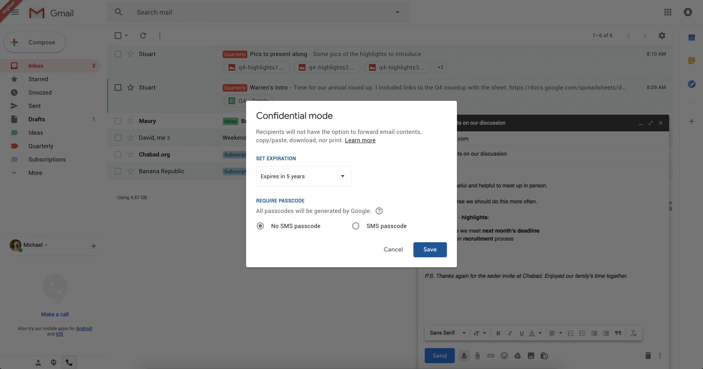 Google прибавит  самоуничтожающиеся письма вGmail