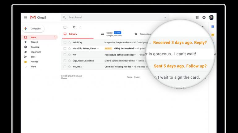 Google официально запустила новый дизайн веб-версии электронной почты Gmail