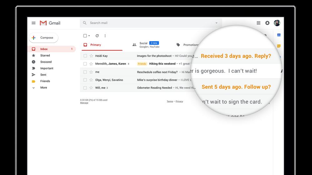 Google неоткажется отпочты Inbox из-за запуска улучшенного Gmail
