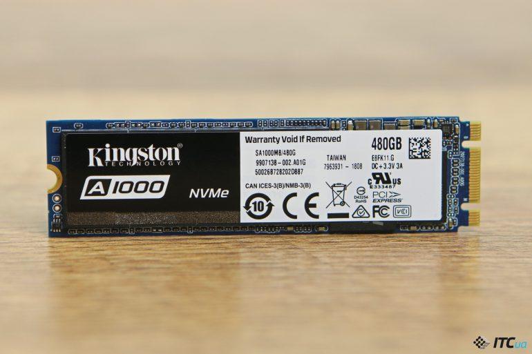 Обзор накопителя Kingston A1000 480 ГБ