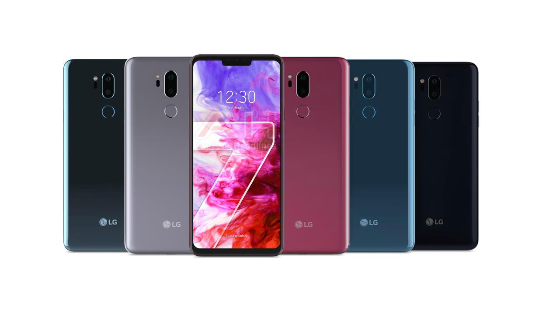 Размещено изображение телефона LGG7 ThinQ совсех сторон