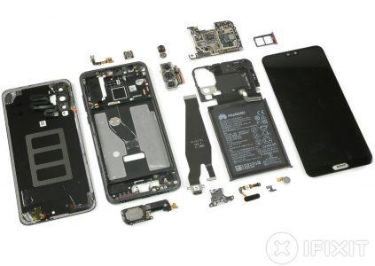 iFixit: все три камеры смартфона Huawei P20 Pro оснащены OIS, но система активирована лишь в одном