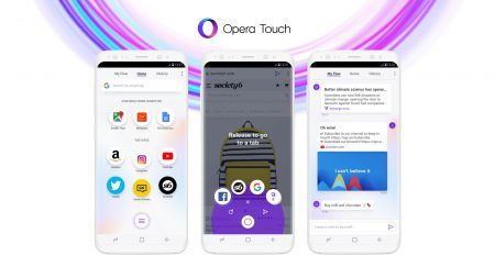 Opera представила новый мобильный браузер Opera Touch с «одноруким» интерфейсом и функцией защищенной синхронизации Flow