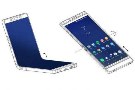 Samsung разработала сгибаемый смартфон в дизайне Galaxy Note 8, но с шарниром посредине и еще одним внешним экраном - ITC.ua