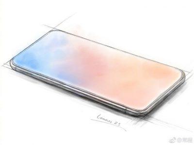Эскиз Lenovo Z5 демонстрирует по-настоящему безрамочный смартфон