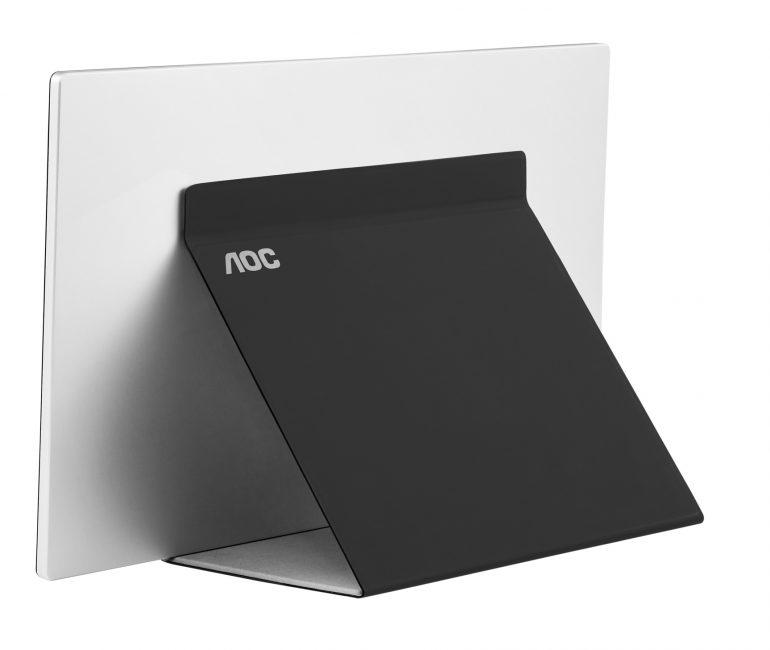 AOC представила портативный 15,6-дюймовый монитор AOC I1601FWUX с USB-C подключением и комплектным чехлом-подставкой