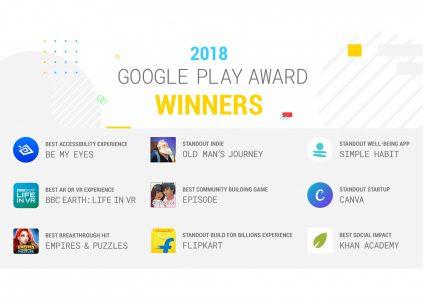 Названы лучшие игры и приложения, победившие в номинациях 2018 Google Play Awards