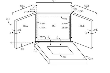 Lenovo запатентовала ноутбук с тройным складывающимся дисплеем, который похож на концепт Razer Project Valerie