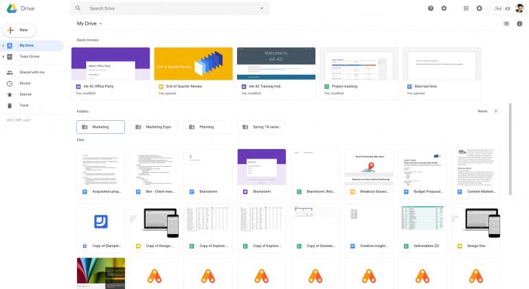 Google обновила интерфейс онлайн-сервиса Google Drive в соответствии с недавними изменениями Gmail