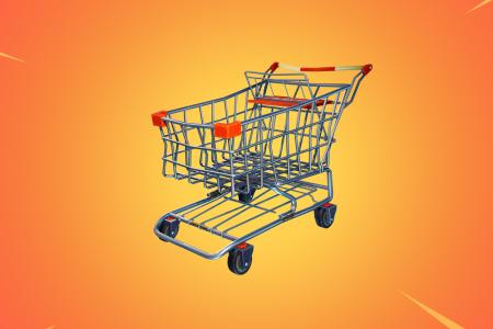 Разработчики добавили в Fortnite первое средство передвижения и это тележка из супермаркета