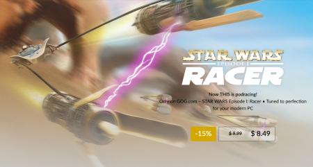 На GOG вышел перевыпуск гоночного симулятора 1999 года Star Wars: Episode I Racer, а также стартовали скидки на игры Star Wars