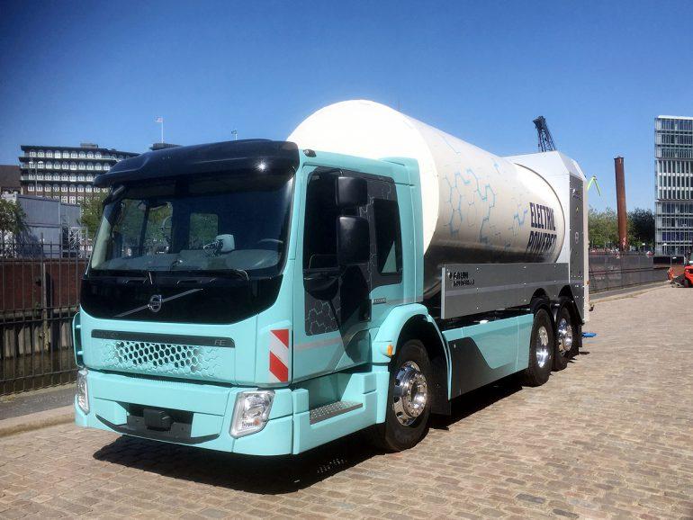 Volvo Trucks представила второй электрический грузовик Volvo FE Electric с батарей 200-300 кВтч и запасом хода до 200 км